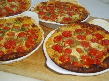 Roasted Cherry Tomato Clafoutis Recipe — Dishmaps